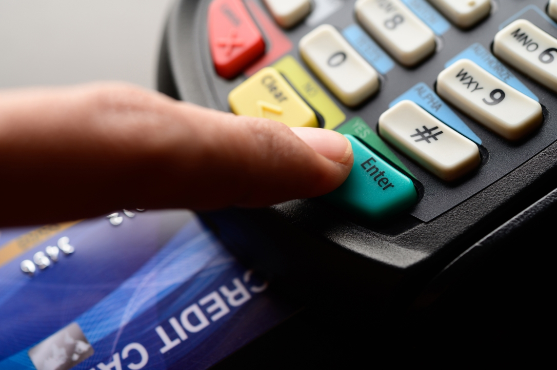 Credit card payment, buy and sell products & service,selective focus